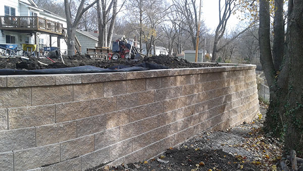 Tall retaining wall