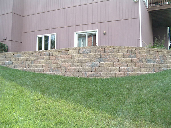 Retaining wall on corner of yard